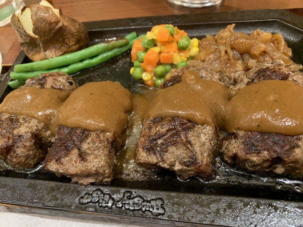 ダブルハンバーグステーキ