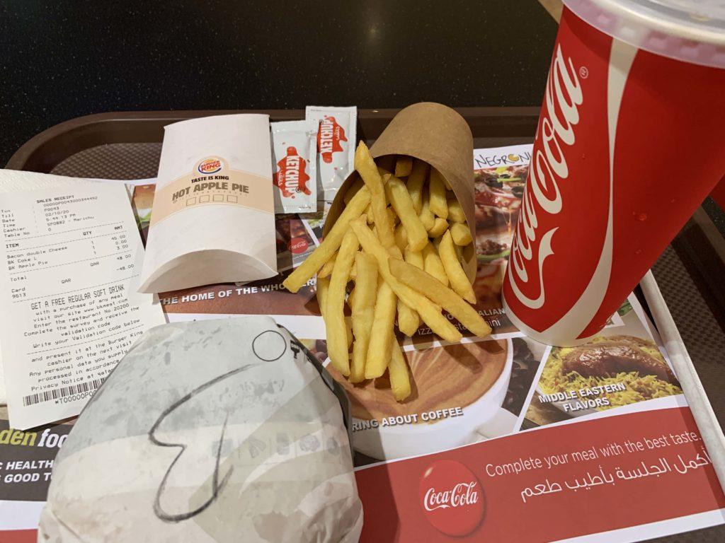 Burger kingのセット
