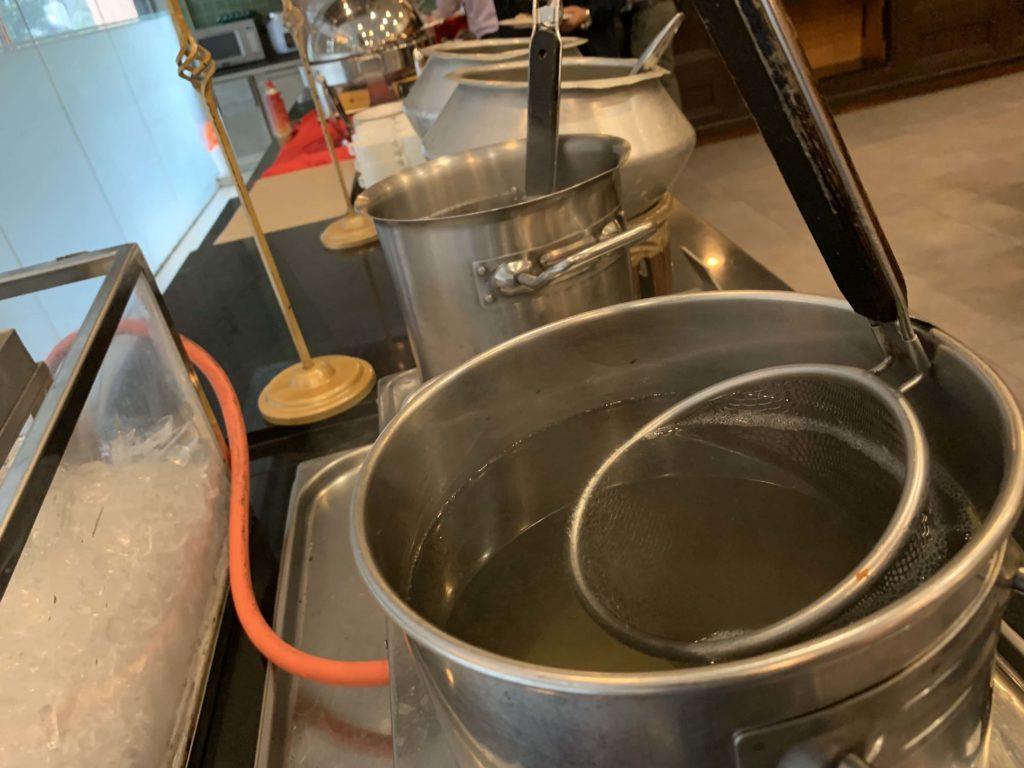 麺の湯で器
