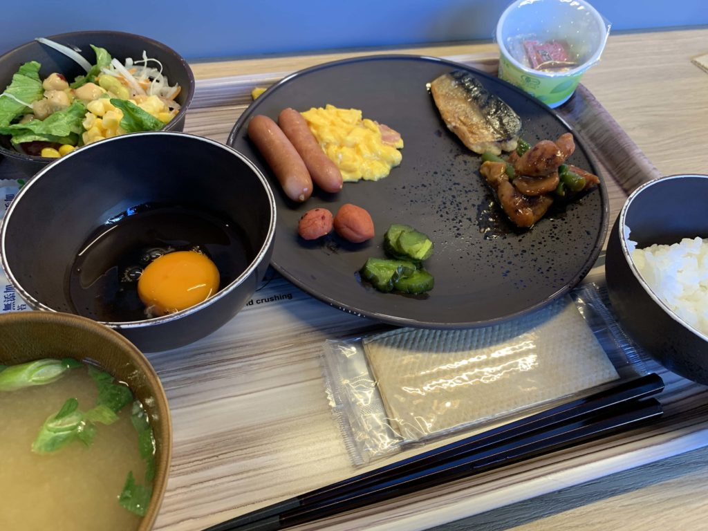 スーパーホテルの朝食